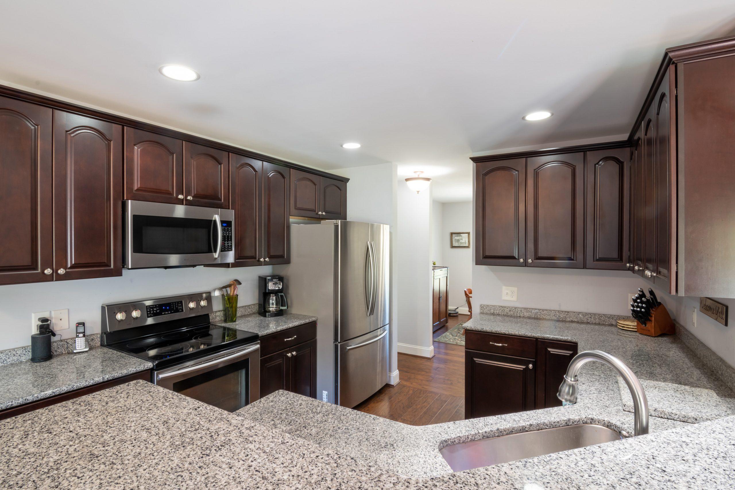 Dark Brown Cabinets Kitchen