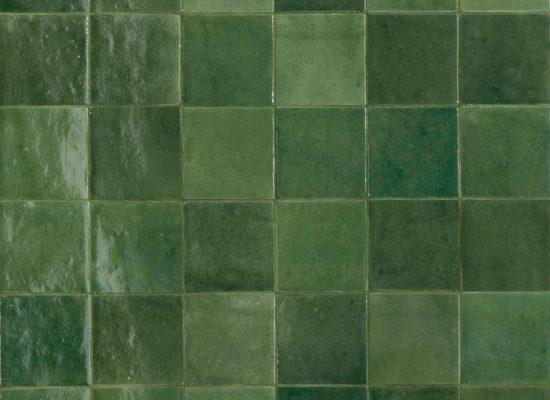 BackSplash Green Squares