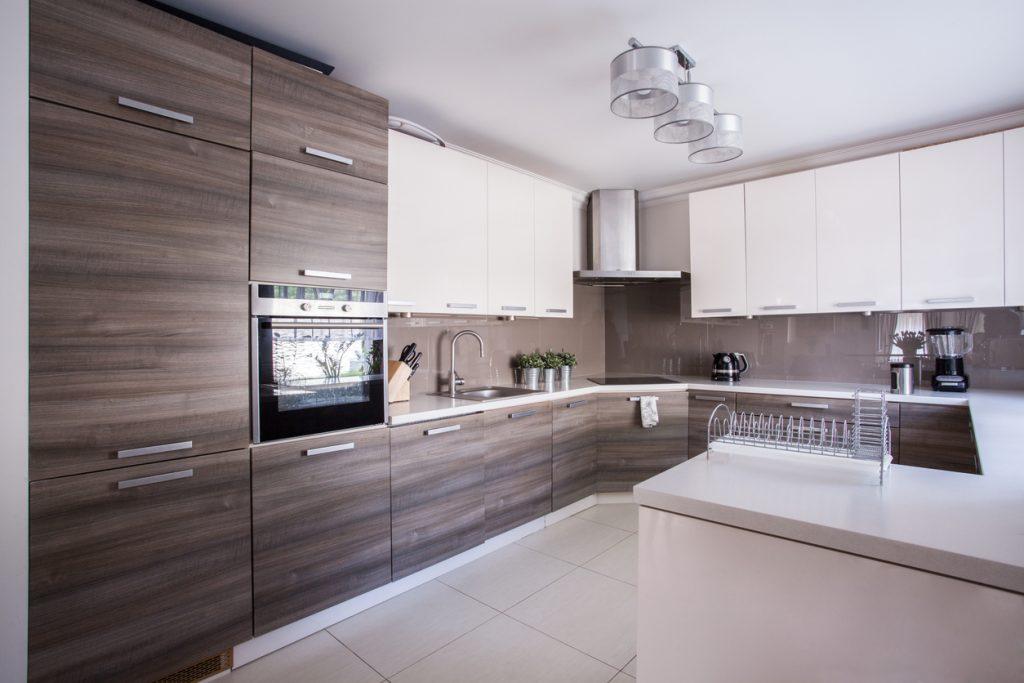 Kitchen Furnished In Modern Design