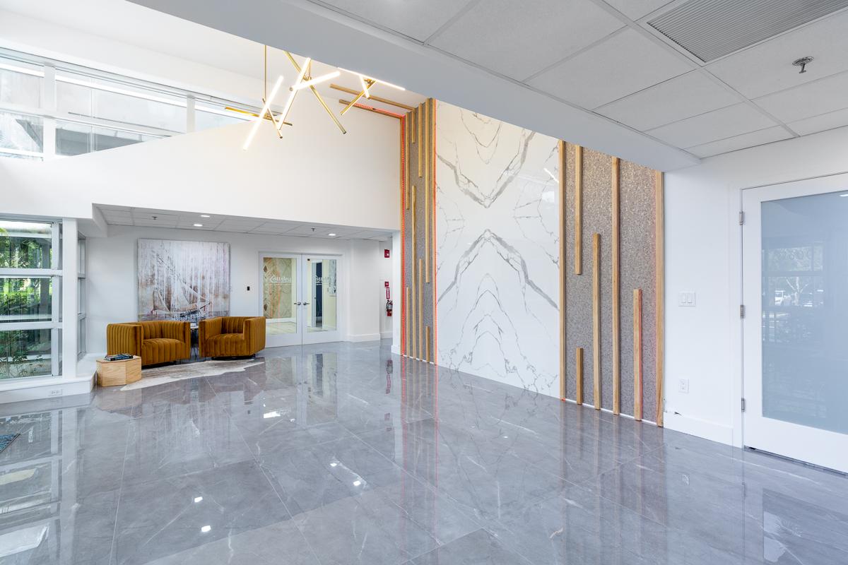 Large Format Porcelain Tile Wall Design 2